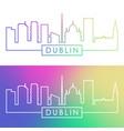dublin skyline colorful linear style editable vector image vector image