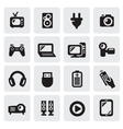 electronic devices icons vector image vector image