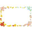 floral spring frame vector image