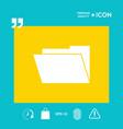 folder symbol icon vector image vector image