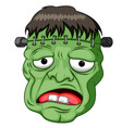 frankenstein head cartoon vector image vector image