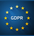 gdpr general data protection regulation eu flag vector image