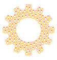 gear mosaic of ruby ring icons vector image