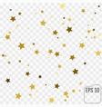 gold star confetti rain festive holiday vector image vector image
