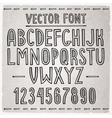 Hand drawn font alphabet vector image