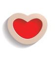 Heart on Valentine Day vector image