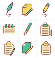 Icons Style Writing icons vector image vector image