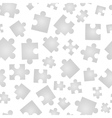 Jigsaw pieces isolated on white seamless pattern vector image