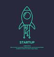 linear emblem business idea startup vector image vector image