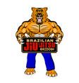 lion bjj 0002 vector image