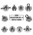 logo collection set with beetle theme vector image vector image