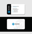 media business card blue letter m vector image vector image
