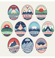 Mountain badge set2color vector image vector image