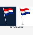 netherlands flag waving national flag of vector image