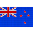 New Zealand flag embroidery design pattern vector image vector image