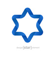 Origami David Star on white background vector image vector image