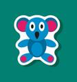 paper sticker on stylish background koala toy vector image vector image