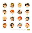 People avatars collection Comic personage Girls vector image