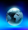 planet earth in the form of a crystal ball vector image