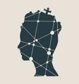 profile of princess or queen vector image vector image