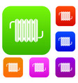 radiator set color collection vector image vector image