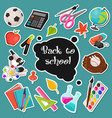 school stickers collection vector image