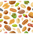 seeds and nuts pattern nut grain and seed vector image vector image