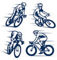 set bicycling racer vector image vector image