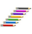 set colour pencils vector image