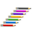 Set of colour pencils for vector image