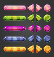 Set of game interface button color-2 vector image vector image
