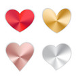 set of hearts with gradient vector image