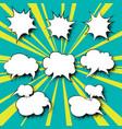 set of speech bubbles pop art vector image