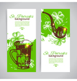 Set of St Patricks Day banners with hand drawn