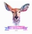 set of watercolor Cute deer vector image vector image