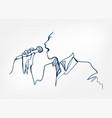 singer man jazz microphone sketch line design vector image