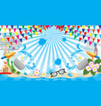 songkran festival sign of thailand symbol vector image