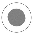 spiral icon black color in round circle vector image