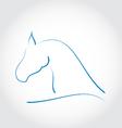 stylized emblem horse head vector image vector image