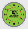 Time managment vector image vector image