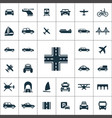 transportation icons universal set for web and ui vector image