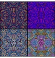 tribal ethnic seamless pattern set vector image vector image