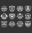 work tools badges construction and repair service vector image