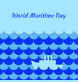 world maritime day september 27 stylized waves vector image