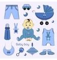 Baby boy design icons vector image
