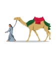 Cameleer sign Bedouin and camel vector image