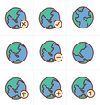 Icons Style Earth icons set vector image