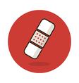 Band aid flat icon Plaster sign Bandage symbol vector image