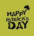 Happy Patricks day Logo for holiday in Ireland vector image