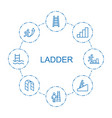 8 ladder icons vector image vector image